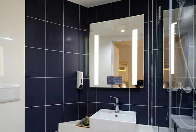 Miroir connecté en wi-fi ou bluetooth aux applications de votre choix, VitrumGlass
