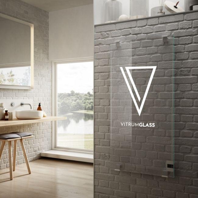 Radiateur en verre avec impression numérique, VitrumGlass